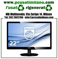 "Monitor LED Philips 226V FULL HD 22"" 16:9 Casse integrate"