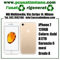 iPhone 7 128GB - Gold - Garanzia 6 MESI A1778