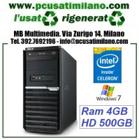 (09.19) Minitower Acer Veriton M290 - Intel Celeron M290 - Ram 4GB - HD 500GB - DVDRW - Windows 7 Professional