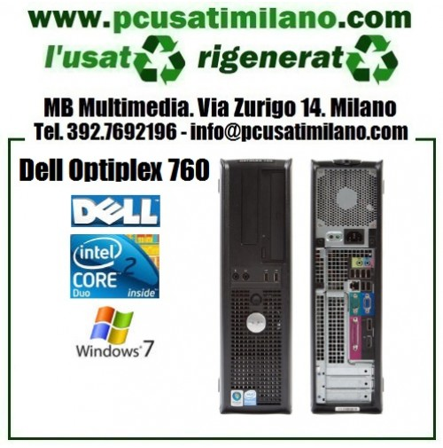 Lotto/stock 5x Desktop Dell Optiplex 760 - Intel Core 2 Duo E8400 - Ram 4GB - HD 250GB - DVDRW - Windows 7 Professional (SPEDIZIONE GRATIS)