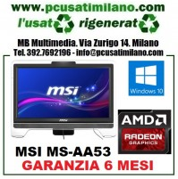 "(02.20) PC All in one MSI MS-AA53 - AMD E-350 - Ram 4GB - HD 500GB - DVDRW - LCD Touch 20"" - Windows 10 Home 64 Bit"