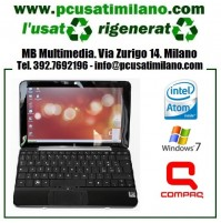 "Netbook HP Compaq Mini 110 - Intel Atom N270 - Display 10.1"" con webcam - Windows 7 - BATTERIA NUOVA"
