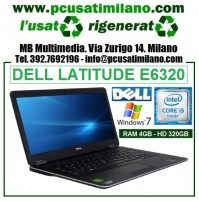 "Notebook Dell Latitude E6320 - Intel Core i5-2520 - Ram 4GB - HD 320 - Led 13.3"" - Windows 7 Professional"
