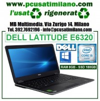 "Notebook Dell Latitude E6320 - Intel Core i5-2520 - Ram 8GB - HD 180GB SDD - Led 13.3"" - Windows 10 Professional"