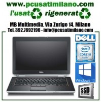 "Notebook Dell Latitude E6420 - Intel Core i5-2430M - Ram 8GB - SSD 256GB - 14"" con WEBCAM - Windows 10"