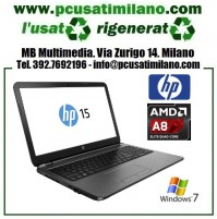 "Notebook HP 15-G207NL - AMD A8-6410 - Ram 4GB - HD 500GB - HDMI - led 15.6"" con WEBCAM - Windows 10 Home 64 Bit"