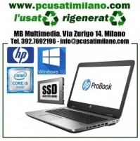 "(12.20) Notebook HP Probook 640-G1 - Intel Core i5-4210M - Ram 16GB - HD SSD 240GB - 14"" con webcam - Windows 10"