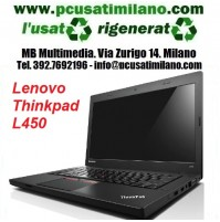"(02.21) Notebook Lenovo L440 - Intel Celeron 2950M - Ram 8GB - SSD 120GB - led 14"" con WEBCAM INTEGRATA - Windows 10 Professional"