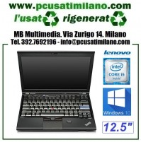 (09.19) Notebook Lenovo X220 - Intel Core i5-2520M - Ram 4GB - HD 320GB - 12.5'' con WEBCAM - Windows 10 Pro