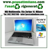 "Notebook Sony Vaio VGN SR29XN (PCG-5P2M) - Intel Core 2 Duo P8400 - Ram 4GB - Led 13.3"" con WEBCAM - Windows 7 Professional"