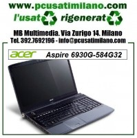 "Notebook Acer Aspire 6930G-584G32 - Intel Core 2 Duo T5800 - Ram 4GB - HD 320GB - 16"" con webcam - HDMI - Windows 7 Professional"