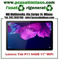 (06.21) Lenovo Tab P11 27,94 cm (11 pollici), 2000 x 1200, 2 K, WideView, Touch) Tablet PC (Qualcomm Snapdragon 662, 4 GB RAM, 64 GB uMCP, Wi-Fi, Android 10), grigio